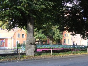 Old Trees, Old Buildings, Flower Covered Bridge