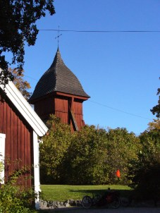 Haga Kyrka Bell Tower & Trike in the Shadows