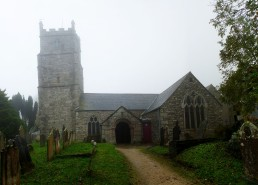 Saint Budock Parish Church - First English Medieval Church via Cycling!!
