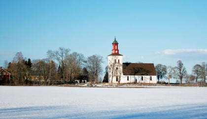 Skuttunge Church With Snow