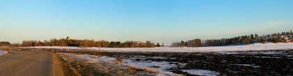 Gamla Uppsala Bathed In Sunset Glow