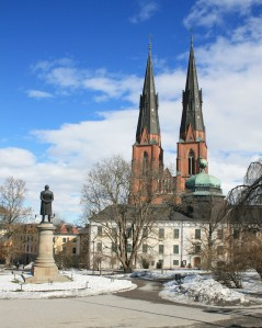 One of Uppsala's museums with the cathedral behind