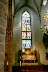 One of Helge Trefaldighet's Stained Glass Windows