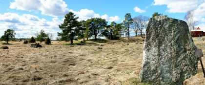 Burial Ground & Uppland Runestone #448