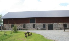 Loved the stone work on this barn.