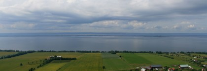 View of Lake Vättern from Brahe Ruins