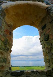 View Framed By Old Window