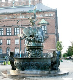 Bull & 'Dragon' Fountain