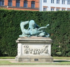 One of many statues on the castle grounds