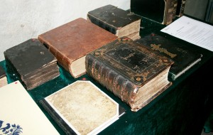 Not even half of the old bibles on display