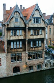 Loved this building across the canal from our room