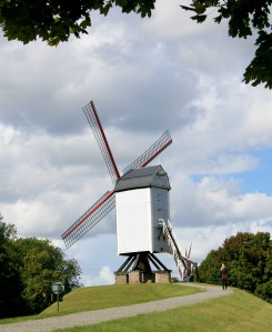 One of several windmills in Bruges