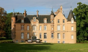 Closer up and unhindered view of a chateau