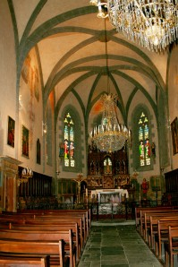 Interior of St. Matthew's in Salers