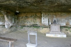 Church area with recreated fixtures
