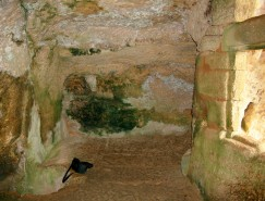 Left side of the medieval 'safe room'