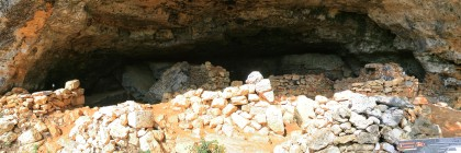 Cave with cottages