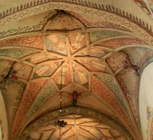 One of the gorgeously painted star vaults