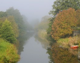 The Fyris River in Sun & Fog