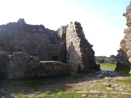 Ruins at the back of the main tower