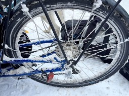 Ice Crusted Back Wheel