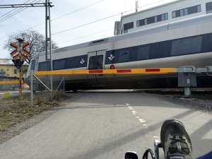 Trikes rock for waiting at rail crossings