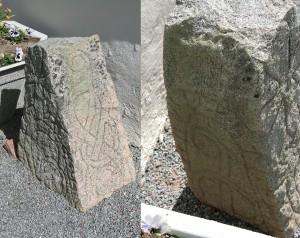 Uppland Runestone #264 - Carved on 3 sides.