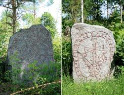 Uppland Runestones #811 & #812 at Hjälsta Church