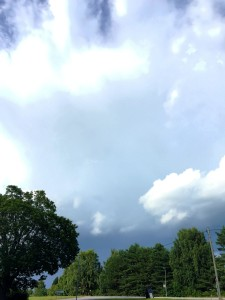 Here comes the rain again....