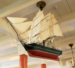 Model ship in Viken Church.