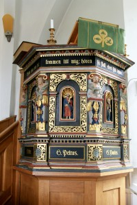 Close up of the pulpit