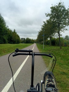 My new 'winter view' from the trike seat.