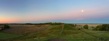 Panorama. Can just make out the cathedral and castle to the far left