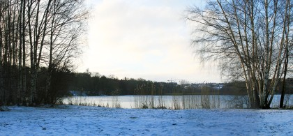 Lill Lake 11:30 am. Winter days in Sweden.
