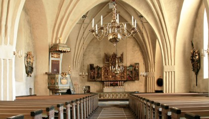 Inside Botkyrka Church - First church interior of the year!