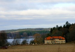 Norberg Manor in the distance
