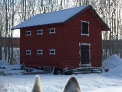 This is 'new'. The barn, not the husky ears.