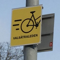 A 'Quick Cycle' Route to help with zipping through a section of Uppsala.