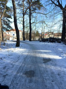 Some snow is stubborn about melting off pavement!