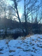 Dim river view.