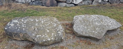 Stones with bronze age carvings