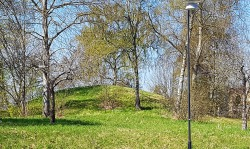 The first mound I found.