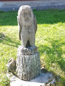Tree stump artwork