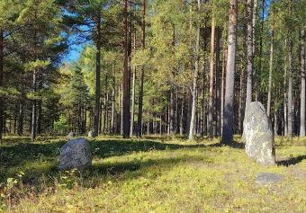 Rocks so probably several burials.