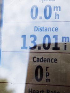 There it is! The last 13 miles I needed for 981 miles!