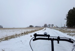 Snowy path = extra exercise!