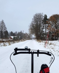 The start of one of my favorite sections of roads to ride in winter.