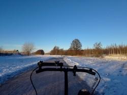 Long shadows of December in Sweden