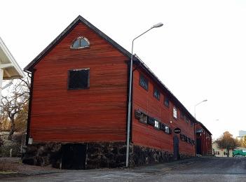 First old buildings I passed in Österbybruk.